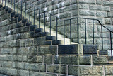 old stone staircase poster