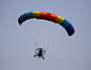 paraplane in flight