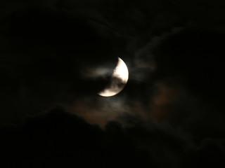 scary night moon