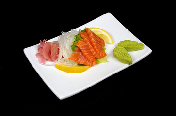 sushimi from salmon