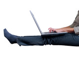 laptop typing poster