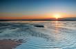 Leinwanddruck Bild sunset evening