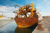 ship in harbor poster