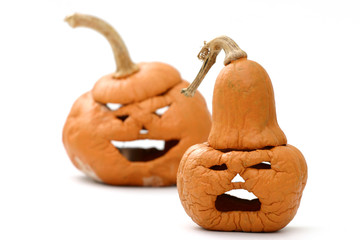 shriveled pumpkins