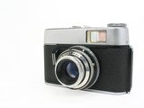 old classic film camera with clipping path poster