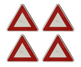 blank triangular sign poster