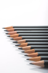 row of pencils - angled - shallow dof