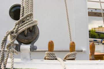 sailing ship's rigging