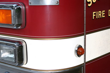 close-up of fire truck