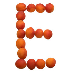 letter of the alphabet made of apricots