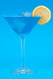 blue cocktail poster