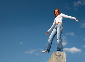 girl balancing above a precipice-1