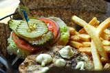 hamburger and fries poster