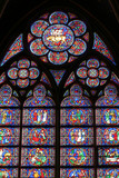 top of a cathedral window poster
