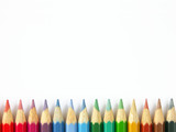 row of colorful crayons poster