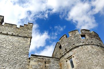 irish castel and irish sky