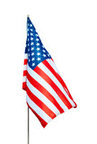 usa flag with clipping path poster