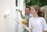 father daughter paint horizontal poster