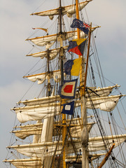 barque: sails and rigging