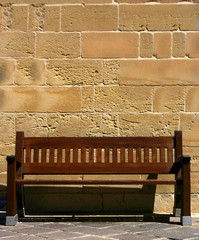 solitary park bench