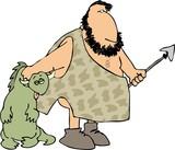 caveman hunter poster