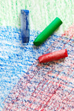 watercolor crayons poster