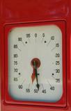 meter of old gas pump poster