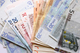mixed euro notes poster