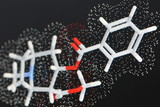 cocaine molecule 1 poster