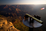 telescope on top of grand canyon poster