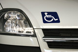 vehicule de transport pour personne handicapée. poster