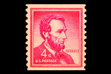stamp - abraham lincoln