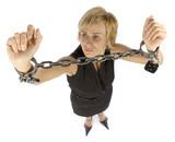 chained businesswoman