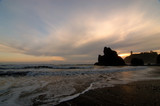 sunset at ruby beach poster