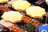 restaurant parasol poster
