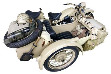 motorrad mit beiwagen der wehrmacht