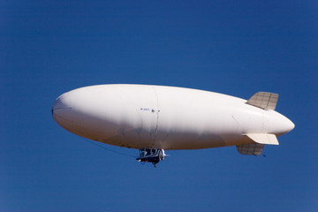 white dirigible