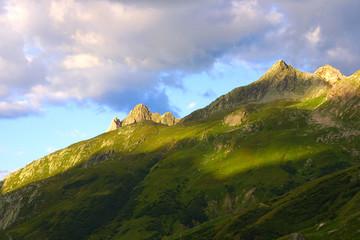 morgenlicht in den bergen