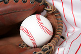 baseball and glove poster