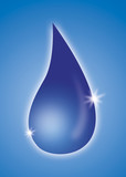 blue drop with sparkles poster