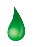 green droplet poster
