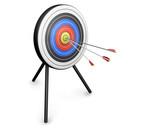arrows hitting target poster