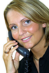 frau am telefon – call center