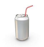 soda can with straw poster