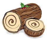 christmas log poster