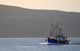fishingboat at sound of mull poster