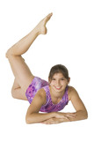 12 year old girl in gymnastics poses poster