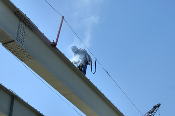 bridge steel welder