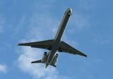 airplane landing poster
