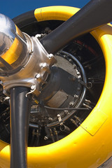b25 mitchell bomber propeller